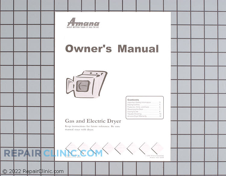 Owner's Manual 40124301 Alternate Product View