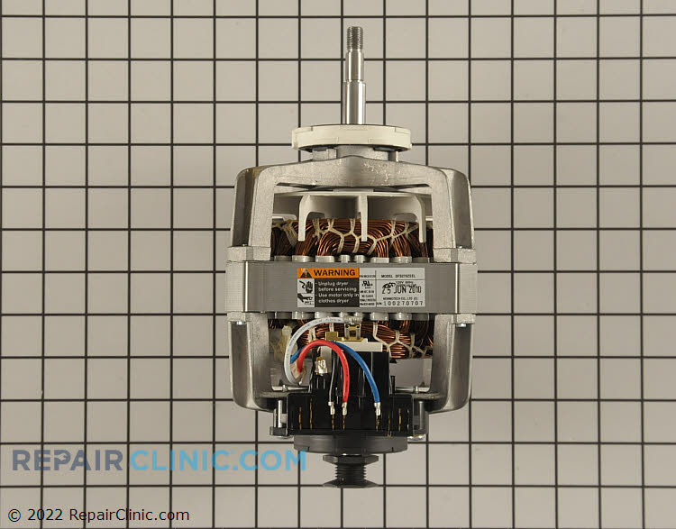 Dryer drum drive motor. If the dryer does not start, look for a defective door switch or thermal fuse. Also, if the motor cannot be turned by hand it has failed and will need to be replaced.