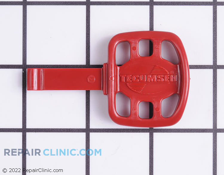 Key, red plastic
