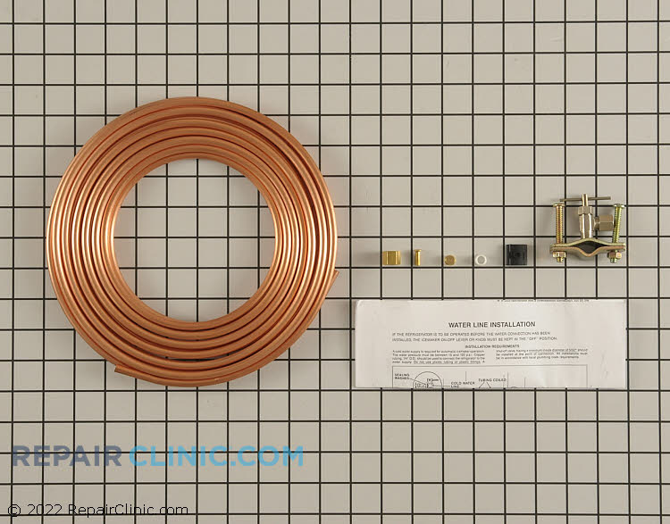 15 foot icemaker 1/4 inch copper line kit with saddle valve and fittings