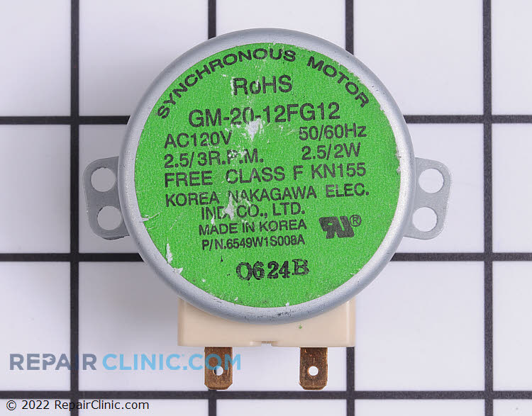 Turntable Motor 6549W1S018C     Alternate Product View