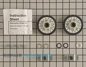 Drum Support Roller & Axle - Part # 3044 Mfg Part # LA-1008