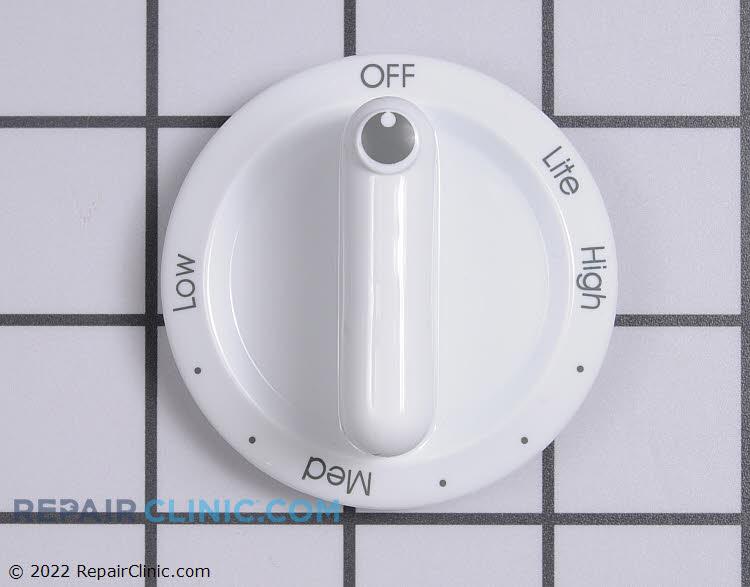 Burner control knob, white