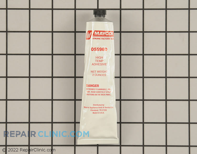High temperature adhesive for installing rubber and felt seals, 2 ounces.