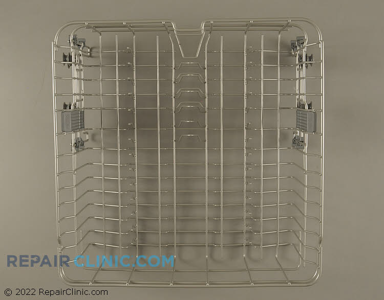 Upper dishrack with rollers