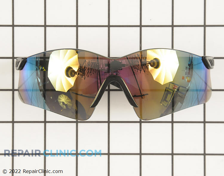 Blue Light Filter Lens with Amber-red color saftey glasses. Protect your eyes while doing yard work. These glasses meet ANSI Z87.1+ saftey standards.