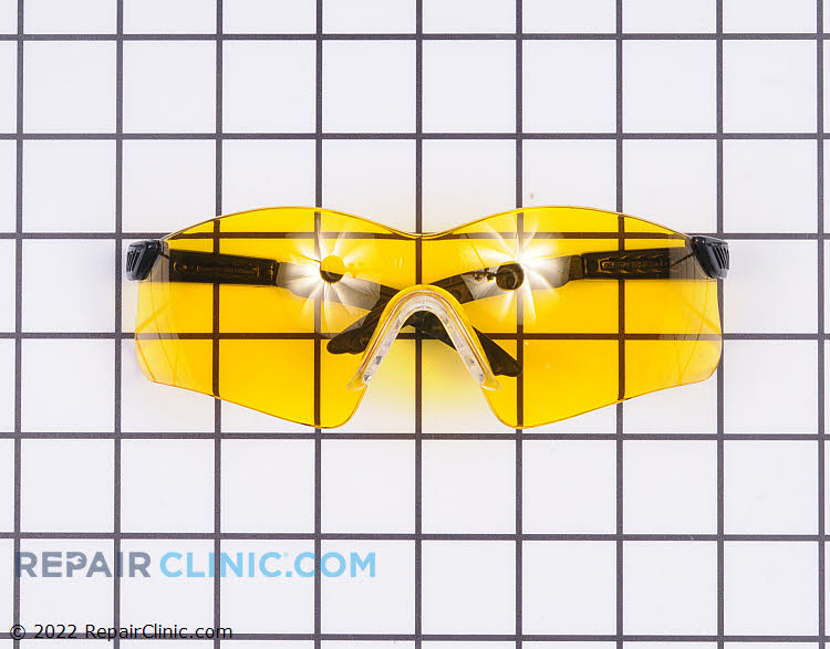 Amber - Yellow Mirror Lens Saftey Glasses. Protect your eyes while doing yard work. These glasses meet ANSI Z87.1+ saftey standards.