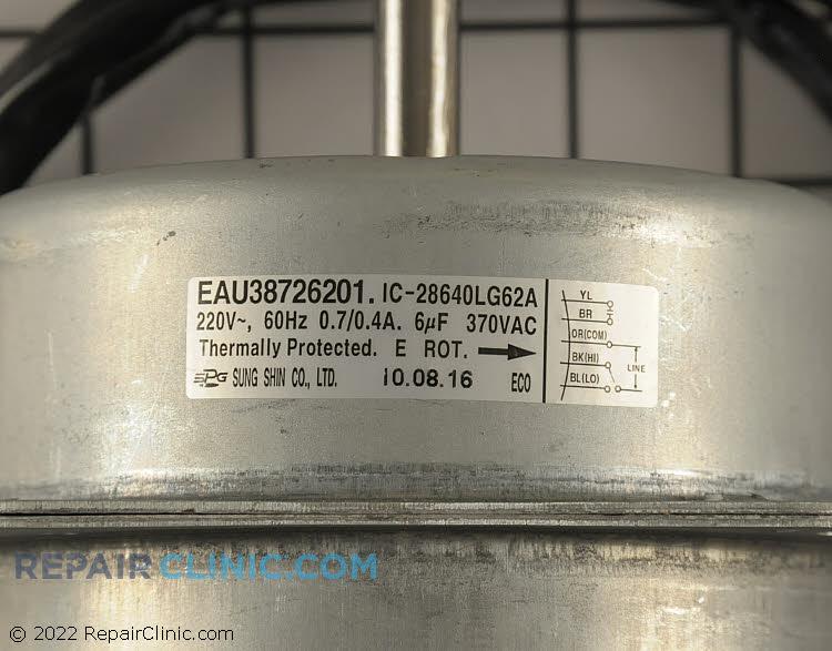 Fan Motor EAU38726201     Alternate Product View