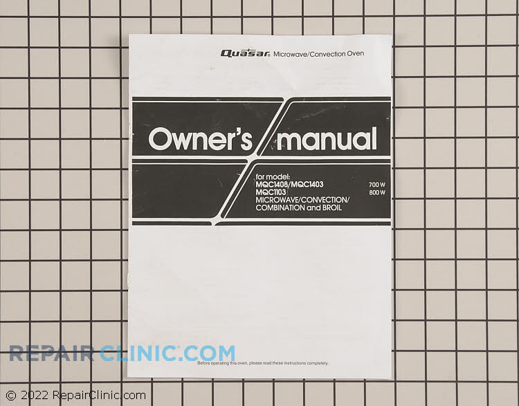 Owner's Manual A00035820AQ Alternate Product View