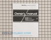 Owner's Manual - Part # 1013720 Mfg Part # A00035820AQ