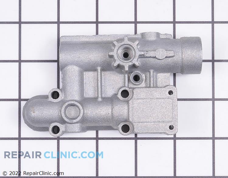 Pressure washer pump unloader manifold.