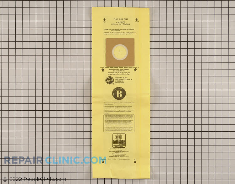 Vacuum Bag 4010103B        Alternate Product View