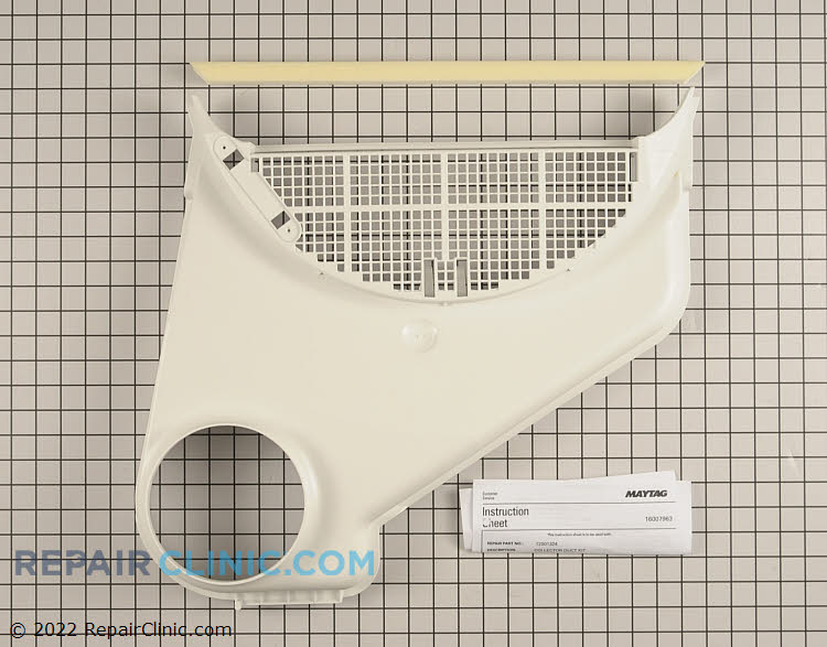 Lint screen housing duct kit