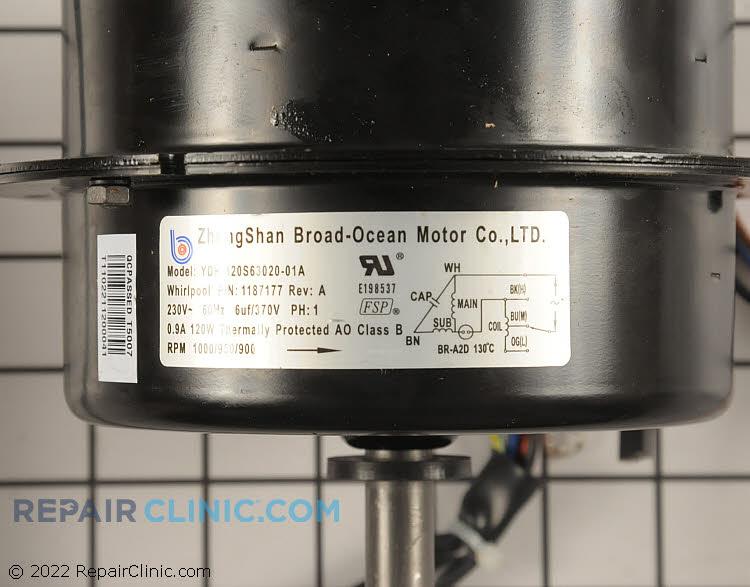 Fan Motor WP1187177 Alternate Product View