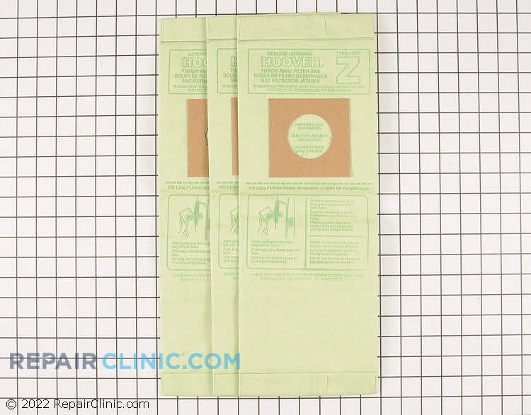 Vacuum Bag 4010075Z Alternate Product View