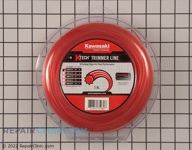Genuine Kawasaki K-Tech Nylon Sting Trimmer Line<br><br>Application: String Trimmer<br>Diameter: .080<br>Quantity: 1 LB<br>Line Shape: Star<br>Compatible with all String Trimmers using .080 diameter line.