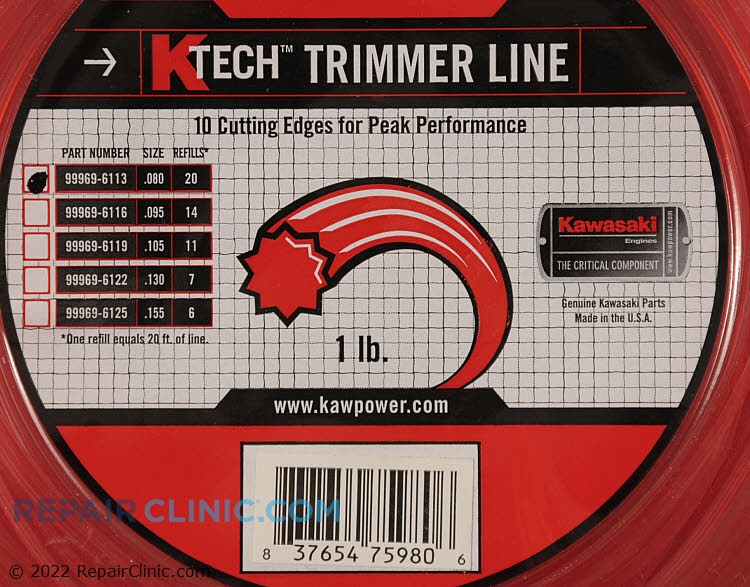 Trimmer Line 99969-6113 Alternate Product View