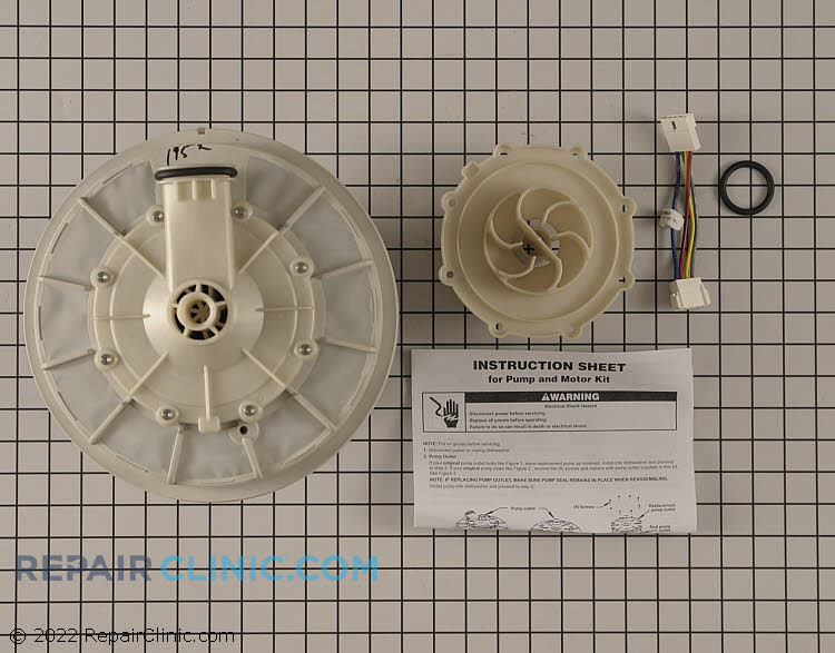 Pump and Motor Assembly W10428167 Alternate Product View