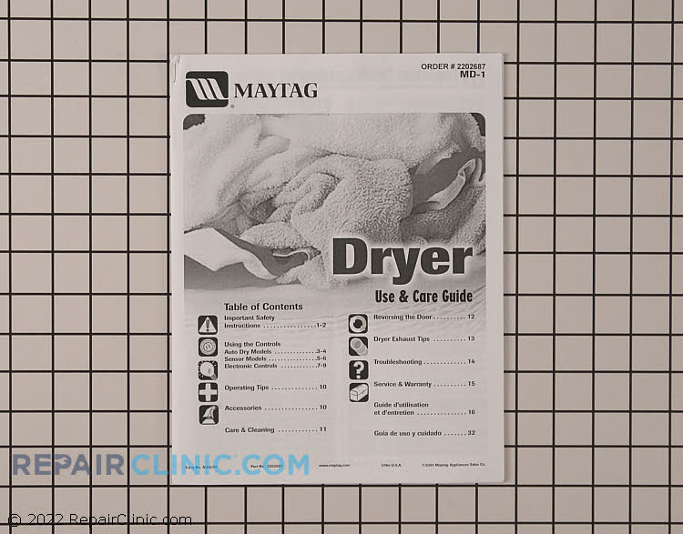 Owner's Manual 2202687         Alternate Product View