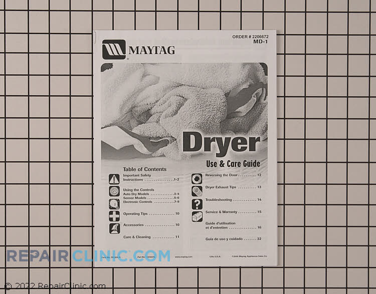 Owner's Manual 2206672         Alternate Product View