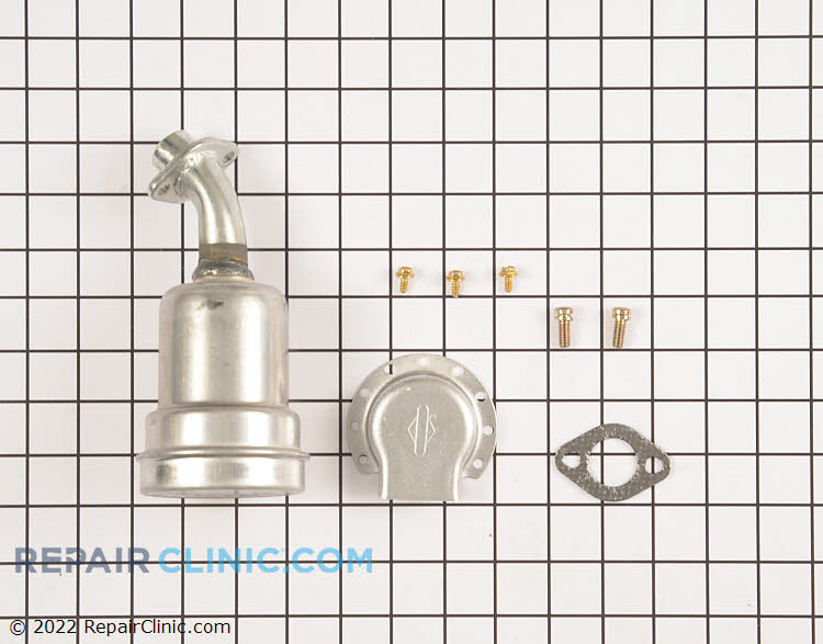 Muffler Kit - Super Lo-Tone, 5 HP Horizontal