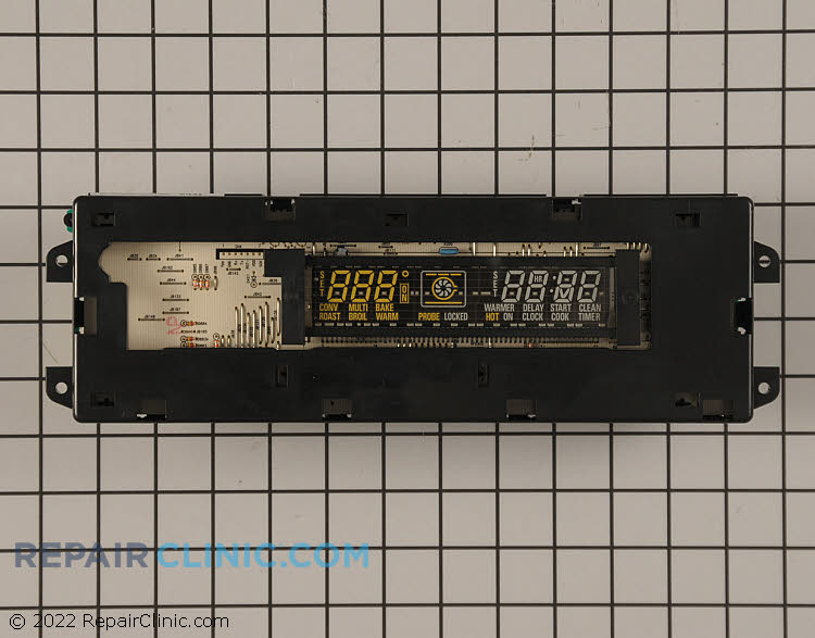 Electronic oven control board assembly
