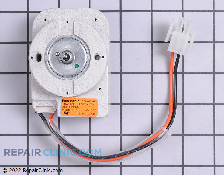 Condenser fan motor wr60x10130 for Hotpoint refrigerator condenser fan motor