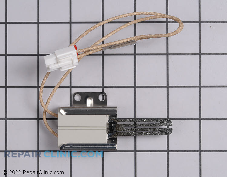 Oven igniter with wire connector