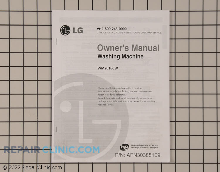 Owner's Manual AFN30385109     Alternate Product View