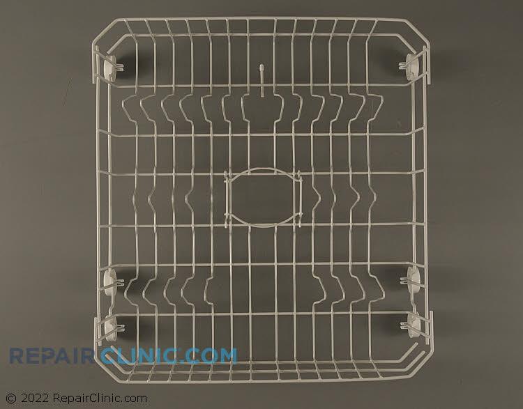 Dishwasher lower dishrack assembly.
