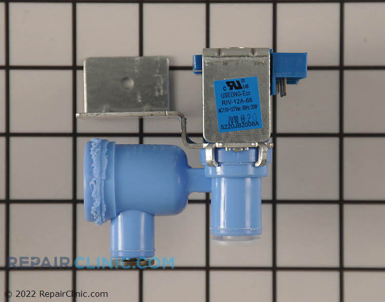 Water valve assembly. NOTE: Please call to verify this inlet valve  is for your  model.