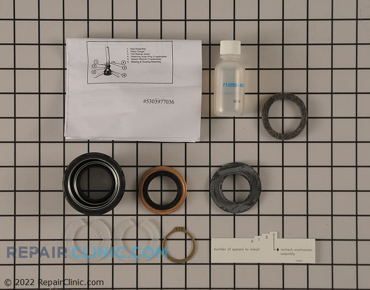 Washing machine tub seal kit, complete with instructions