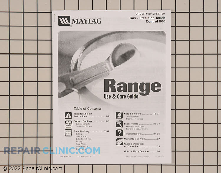 Owner's Manual 8113P577-60     Alternate Product View