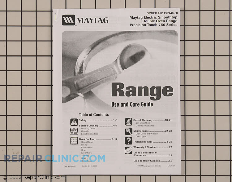 Repair Manual 8113P440-60 Alternate Product View
