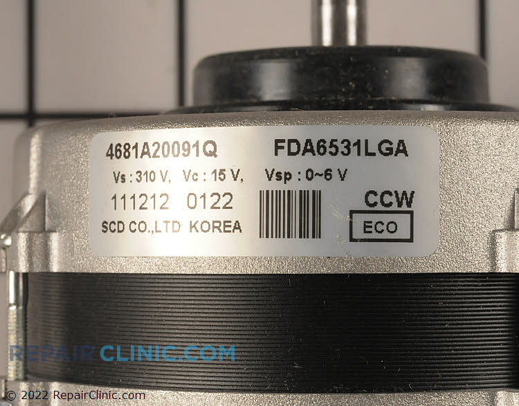 Fan Motor 4681A20091Q     Alternate Product View