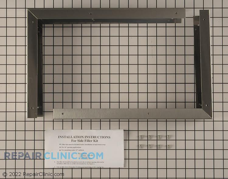 Hood filler panel kit, stainless steel