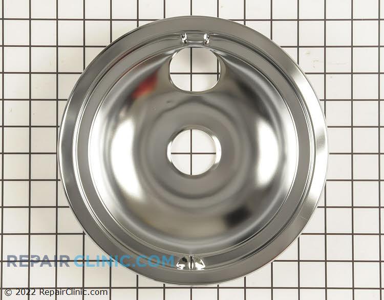 Drip bowl, 8 inches, chrome