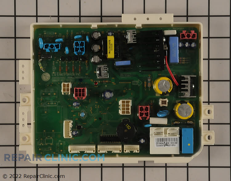 Main power control board. NOTE: This part is often misdiagnosed and requires electrical testing with a volt/ohm meter to determine if it is defective.