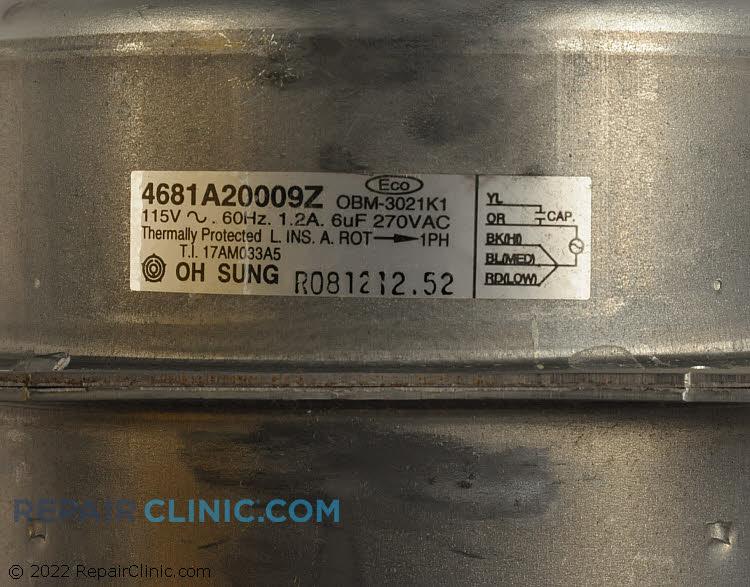 Fan Motor 4681A20009Z     Alternate Product View