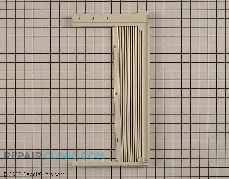 Slider panel window shutter, left