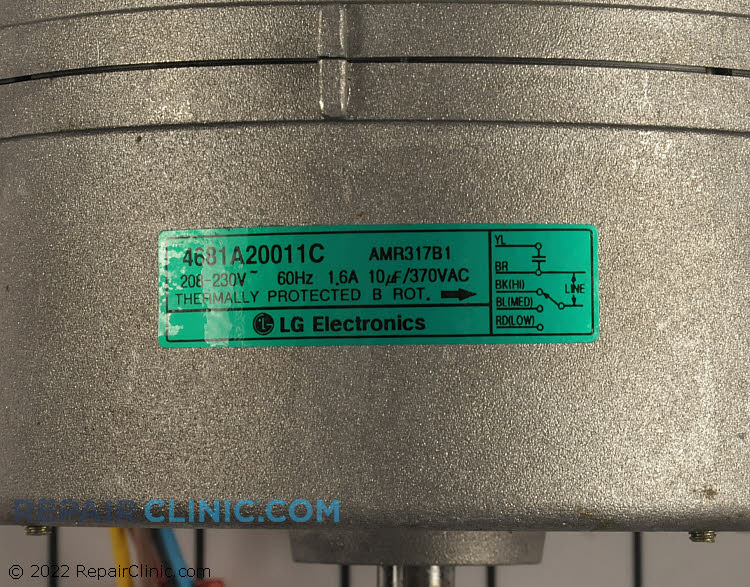 Fan Motor 4681A20011C     Alternate Product View