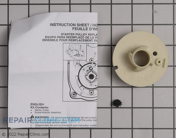 Weed Eater Husqvarna Poulan Craftsman Trimmer Replacement Starter Pulley Kit # 530069400