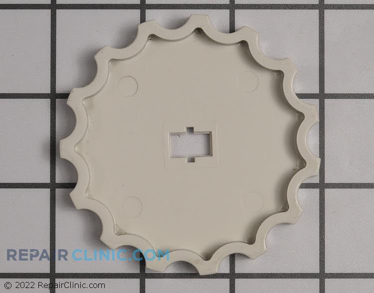 Louver auger wheel knob