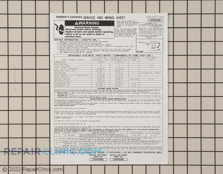 Tech Sheet 2255955         Alternate Product View