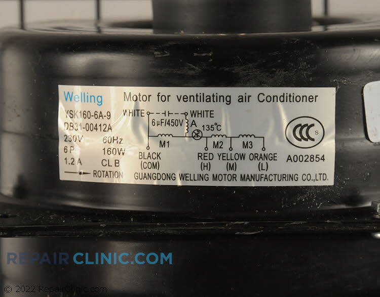 Fan Motor DB31-00412A Alternate Product View