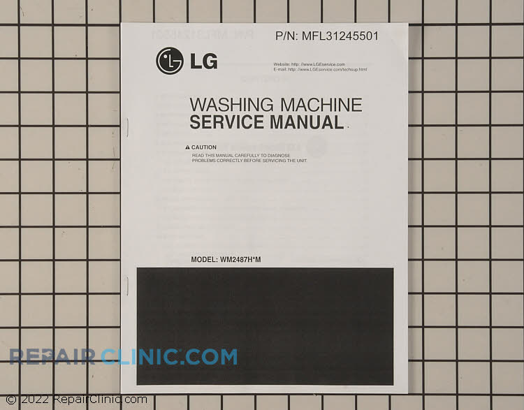 Repair Manual MFL31245501     Alternate Product View