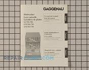 gaggenau dishwasher manuals care guides literature parts rh repairclinic com gaggenau dishwasher instruction manual gaggenau dishwasher repair manual