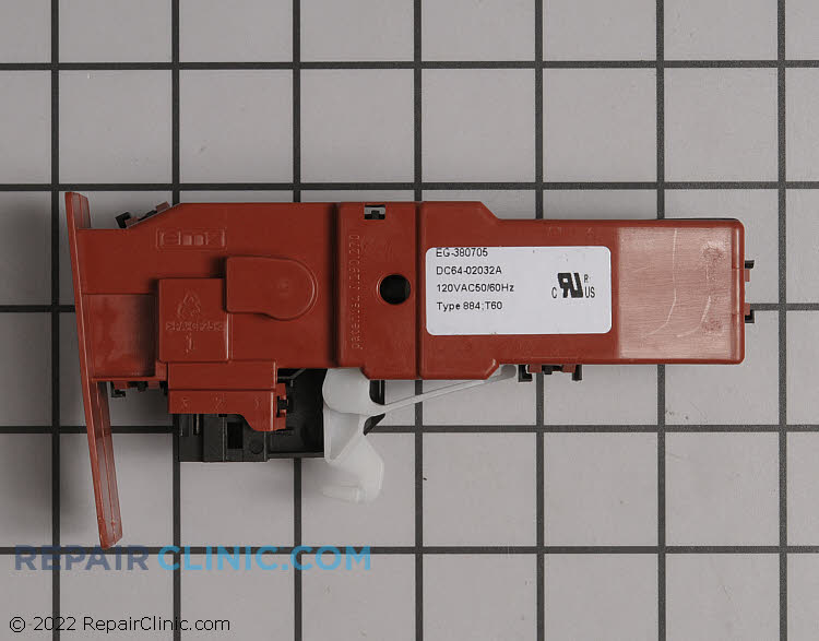 Door lock & switch assembly - Item Number DC64-02032A