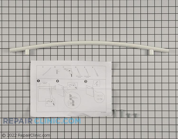 White Curved Door Handle