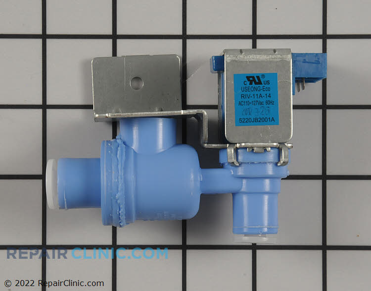 Water inlet valve **Note: Plastic water tube is sold separate.